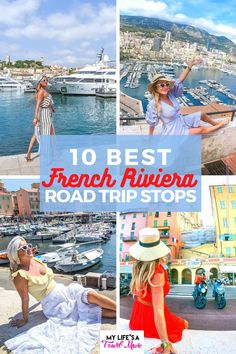 Here's tips and details for the 10 best French Riviera road trip stops! Including two in Provence, and one that's it's own country (Monaco)! Also find out how to see all of these French Riviera stops on a budget!