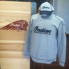Gray Longsleeve Indian Sweatshirt * Gray & Navy Indian Baseball Cap