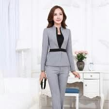 Formal ladies pant suits for women business suits gray blaze. Office Fashion, Work Fashion, Fashion Outfits, Lawyer Outfit, Pantsuits For Women, Work Chic, Work Suits, Office Looks, Career Wear