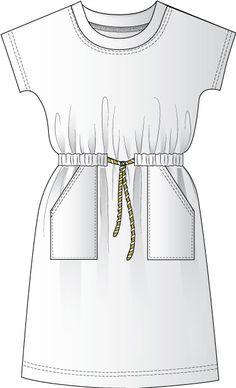 Shirt Dress pattern Casual T-shirt dress sewing instructions. Sewing step-by-step. Casual T-shirt dress sewing instructions. Sewing step-by-step. Sewing Aprons, Dress Sewing Patterns, Sewing Patterns Free, Sewing Clothes, Clothing Patterns, Diy Clothes, Sewing Coat, Simple Dress Pattern, Shirt Dress Pattern