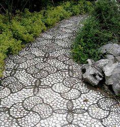 M s de 1000 im genes sobre jardin en pinterest jardines for Camino de piedras para jardin