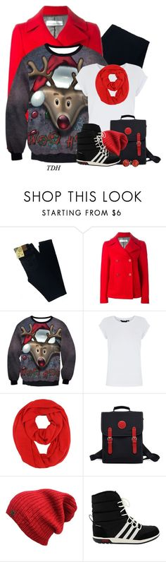"""""""Reindeer Sweatshirt"""" by talvadh ❤ liked on Polyvore featuring Big Star, Golden Goose, adidas and Bling Jewelry"""