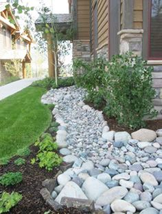 Front Yard Landscaping 50 Super Easy Dry Creek Landscaping Ideas You Can Make! - Images and ideas for backyard landscaping and do it yourself projects to easily create dry creek and river bed designs that dress up your property.