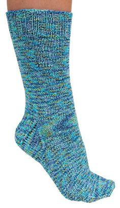 Follow this free knit pattern to create bounce socks using Mary Maxim Bounce Sock yarn.