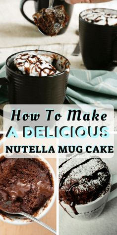 Here's how to make a delicious nutella mug cake! Check out our recipe to make a nutella mug cake! Want to make your nutella cake tastier? Find out about are easy recipe for a nutella mug cake in this article. Nutella Mug Brownie, Brownie In A Mug, Nutella Cookies, Mug Recipes, Nutella Recipes, Dessert Recipes, Nutella Snacks, Delicious Desserts, Tea Cakes