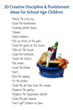 20 Creative Discipline & Punishment Ideas for School Age Children — A Tampa Green Living Mom Blog - Cloth Diapers - DIY - Disney - Travel - Family