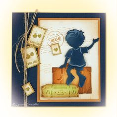 Leane Creatief mallen lea'bilitie 45.3257 Children | lea'bilitie 46.1901 Suitcases | stempel 55.2816 Autumn Mail Embossed Cards, Diy Scrapbook, Kids Toys, Stencils, Baby Kids, Album, Metal, Frame, Crafts