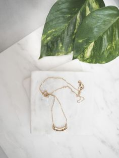Piece Necklaces in brass with 22 inch gold filled chain  // Annachich luxury designer jewelry is inspired by architecture and handmade in California