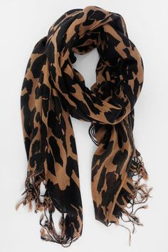 Leopard Scarf in Brown $28 at www.tobi.com