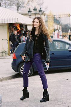 Polish model Jac Jagaciak, Paris, March 2013.