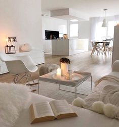 GET COZY – Was auch immer pro ein kuscheliges Zuhause! Unser Geheimrezept pro 100 Proze… GET COZY – Whatever pro a cuddly home! Our secret recipe per 100 processes … room Living Room White, White Rooms, Home And Living, Interior Design, House Interior, Living Room Decor, Home, Interior, Cozy House