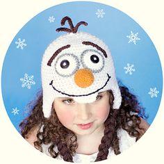 Frozen Olaf Inspired Hat ~ free pattern