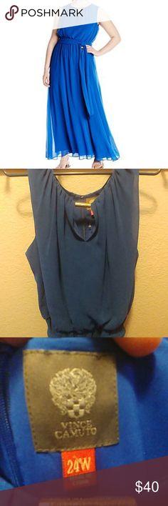 Flowy blue Vince Camuto dress NWOT 24W, blue formal dress, Vince Camuto Vince Camuto Dresses