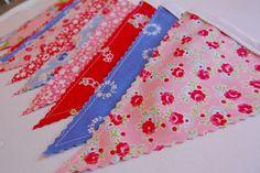 Pam Kitty Morning Bunting Banner - Fabric Banner - Fabric Bunting - Baby Bunting Banner - Flags - Pennants. $25.00, via Etsy.