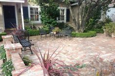 Front Patio Built Around Trees | Front Yard Patio Ideas