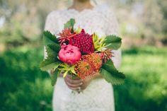 waratah bouquet