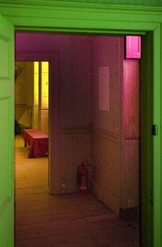 Coloured Rooms Doorways - Brian Eno Speaker Flowers Sound Installation at Marlborough House