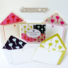 Personalized Stationary  Dutch Love Tulip Pattern  by DawnAndEmil, $18.00