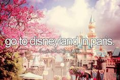 I have always wanted to go to paris. And know they have a disney land now i have to go.