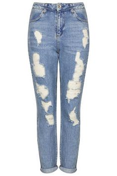 MOTO Ripped High Waisted Mom Jeans - New In This Week  - New In