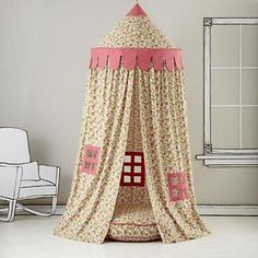 What a fun little hide-a-way for a kids room!  - Kids Canopy: Floral Play Circus Tent in Holiday 2012 from The Land of Nod on shop.CatalogSpree.com, my personal digital mall.