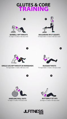 Glutes & Core Workout for women. Glutes & Core Workout for women. Gym Workouts Women, At Home Workouts, Glute Workouts, Core Workout Women, Crossfit Ab Workout, Barbell Workout For Women, Total Gym Workouts, Workout Videos For Women, Crossfit At Home