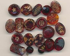 Victorian Glass Button Collection