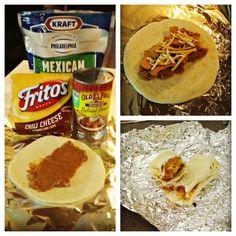 Campfire Recipes Frito Bean Rito