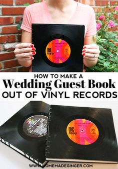 If you want to learn how to make a DIY wedding guest book out of vinyl records, the good news is that anyone can do it and it's fairly inexpensive.