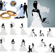 Wedding silhouettes vector | ai, eps, free download Couple Silhouette, Wedding Silhouette, Silhouette Vector, Silhouette Cameo, Wedding Anniversary Cards, Wedding Invitation Cards, Wedding Cards, Trendy Wedding, Diy Wedding