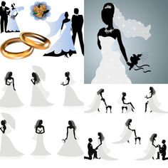 Instant Download - Lingerie Nightgown Dress Clip Art- Wedding ...