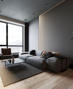 Apartment Interior, Living Room Interior, Home Living Room, Living Room Decor, Modern Living Room Design, Modern Room, Bedroom Decor, Luxury Interior, Home Interior Design