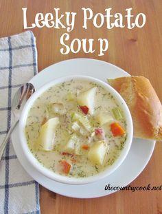 Crock Pot Leek & Potato Soup - The Country Cook
