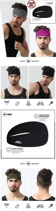 Hair Accessories 45220: Mens Sports Headband Elastic Thin Sweatband For Running Workout Gym Head Band -> BUY IT NOW ONLY: $33.73 on eBay!