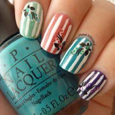white stripes w pop base colors.love it!