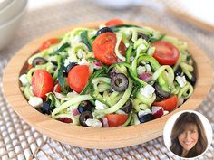 Healthy, no-cook recipe for a stress-free #LaborDay… Zucchini Noodle Salad from Hungry Girl!