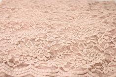 Blush Scalloped Lace Fabric by the Yard Wedding Bridal Craft Lace Material Cotton Blush Lace Fabrics - 1 Yard Style 312
