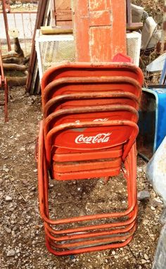 Old Coke Tables & Chairs from Mx