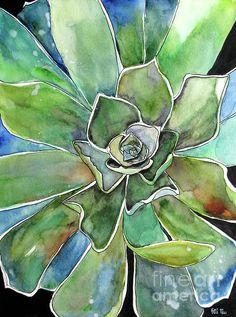 Succulent Watercolor  Fei Liu