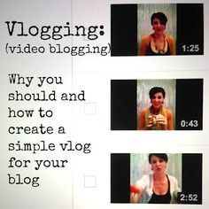 Vlogging: Why you should be doing it http://www.redcliffestyle.com/2012/12/vlogging-video-blogging-why-you-should.html Redcliffe Style