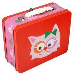 Große Lunchbox Katze aus Metall mit Griff von Blafre