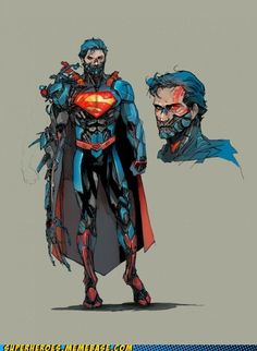 hero dc super man evolve
