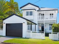Property data for 22 Wellstead Avenue, Coorparoo, Qld Get sold price history for this house & median property prices for Coorparoo, Qld 4151 Queenslander House, Weatherboard House, White Exterior Houses, Exterior House Colors, Exterior Paint, Facade Design, Door Design, House Design, Hamptons Style Homes