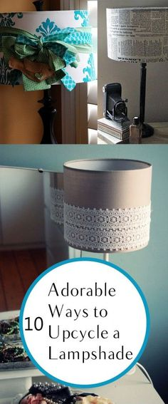 10 Adorable Ways to Upcycle a Lampshade. DIY, DIY home projects, home décor, home, dream home, DIY kitchen, DIY kitchen projects, weekend DIY projects.