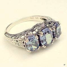 Sz 7 AlexandriteSterling Silver RingColor Change by Steampunkitis, $99.00