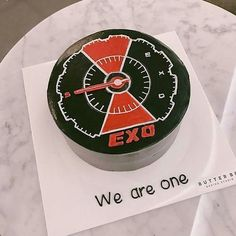 I want this cake for my bday! 💕 Cr on pic Exo Xiumin, Kpop Exo, Exo Birthdays, Korean Cake, Its My Bday, Aesthetic Food, Cute Cakes, Cute Food, Cake Art