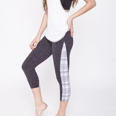 STRUT THIS workout pants Crop workout leggings! Sexy & comfy these are the perfect workout pants! Fantastic fit & great look! Very stylish yet functional! These cute workout crop pants feature plaid on the sides with gray on the front & back! MADE IN THE USAwoohoo ☺️ I love this Brand! This brand STRUT THIS has amazing Quality and craftsmanship in their pieces! (This Brand STRUT THIS is Not lulu but Very similar quality and price & this brand is not yet in band choices) one size OS fits most…