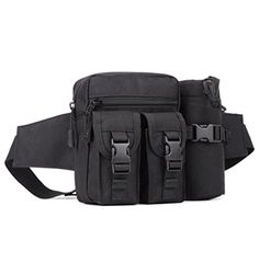 Yeevion Waist Pack Belt Bags Hip Bags Water Bottle Bag 171 Black >>> Continue to the product at the image link.