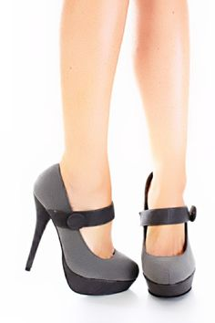 This very stylish pump featuirng, faux suede with faux leather trim, wide mid straps, semi pointed toes with center stitching Insole with faux leather lining, lightly cushion footbed, outsole with rubber traction. Approx 5 1/2 inch heels 1 inch platform. $26.99