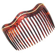 Late Victorian Tortoise Shell Natural Pearl Gold Hair Comb   From a unique collection of vintage more jewelry at https://www.1stdibs.com/jewelry/more-jewelry-watches/more-jewelry/